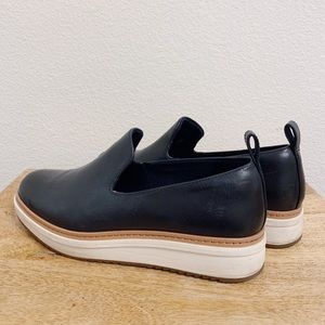 Clarks Navy Loafers